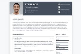 Resume Making Sites Template Great Free Cv Templates Top Software Developer