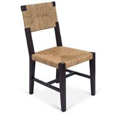 rush weave dining chair set of 2