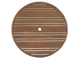 woodard extruded aluminum tri slat 48 round table top with umbrella hole