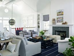 white coastal furniture. Bright White Living Room With Coastal Decor And Comfortable Furniture. #LivingRoom Furniture