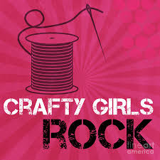 Crafty Crafty Girls Rock Mixed Media By Linda Woods