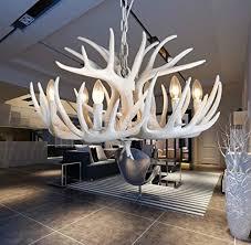 resin antler white antler chandelier