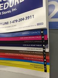 Walmart Flip Chart Walmart Emergency Color Codes Mildlyinteresting