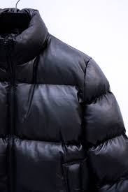 mki leather bubble jacket black sold out