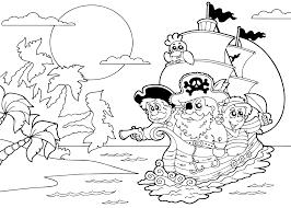 Piraten Kleurplaat Printen
