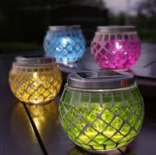 Mosaic Glass Ball Garden Lights Color Changing LED Solar Light Solar Mosaic Garden Lights