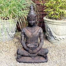 buddha statue with burnished bronze finish