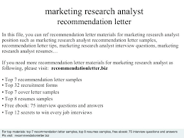 Market Research Cover Letter Research Analyst Cover Letter Sample ...