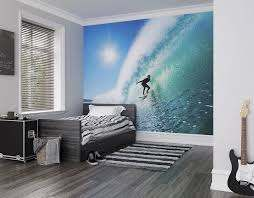 surfer on wave wall mural wallpaper