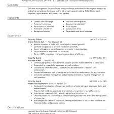 Curriculum Vitae Example Impressive Security Guards Resume Sample Guard Curriculum Vitae For Supervisor