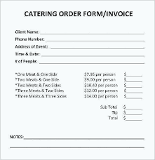 Catering Invoice Template Excel Beauteous Individual Service Invoice Template Independent Contractor Free