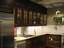 pictures of ikea kitchens dark wood glass door ikea for dark kitchen cabinets with glass doors