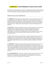 Performance Evaluation Sample Sample Employee Performance Review Form Yearly Eval Pinterest 22