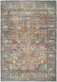 safavieh rugs rug from collection this grey fl design area rug from the collection of transitional