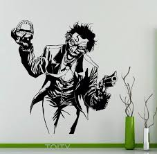 heath ledger joker wall sticker dc marvel comics superhero vinyl decal home interior decoration room art mural on marvel comics mural wall graphic with online shop heath ledger joker wall sticker dc marvel comics