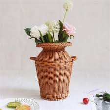 <b>Rattan</b> Vase <b>Wicker Flower</b> Vase Country Rustic <b>Style Flower</b> | Etsy ...
