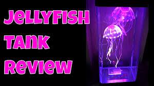 led jellyfish tank glowing desktop or night light for kids stand aquarium review thinkunboxing 4k