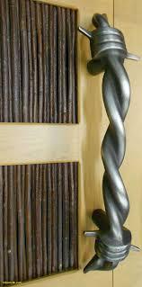 industrial cabinet hardware unique barbed wire door handle cast white bronze antiqued shot ned