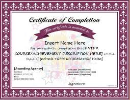 templates for certificates of completion best 25 certificate of completion template ideas on pinterest