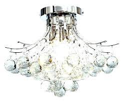 chrome ceiling fan with crystal discs light kit flush mount g bead antique white candelabra socket