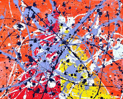 jackson pollock was made famous for producing art from splatter s of paint it s not uncommon