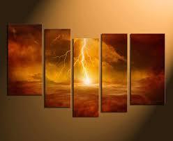 modern canvas art. 5 Piece Artwork, Abstract Photo Canvas, Orange Huge Canvas Art, Modern Wall Art