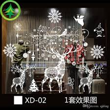 christmas plastic electrostatic stickers 54 72cm random style christmas window decoration christmas decorations vip for large order xmas house