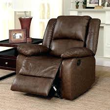 details about new transitional brown glider reclining chair in top grain genuine leather recliner small