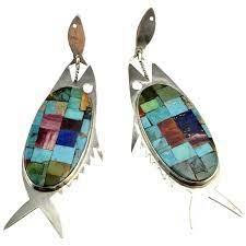 fish inlay native american indian