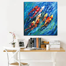 >big size wall art picture traditional chinese abstract painting  big size wall art picture traditional chinese abstract painting colorful koi fish canvas prints for living