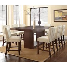 Steve Silver Antonio  Piece Counter Height Dining Table Set With - Tall dining room table chairs