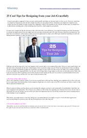 25 cool tips for resigning from your job gracefully wisestep