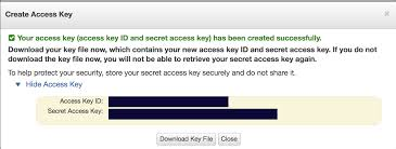 Access Key How To Create An S3 Bucket And Aws Access Key Id And Secret