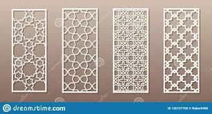 Arabic Pattern See Through Silhouette With Arabic Pattern Muslim Girih