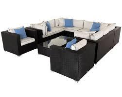 black rattan garden corner sofa off 65