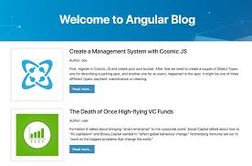 Create Your Own Blog How To Build A Blog Using Angular And Cosmic Js By Carson