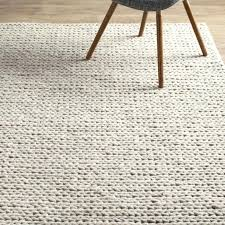 white wool rug chunky braided 4 cable off area within inspirations yarn white wool rug