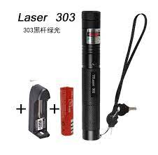 Đèn pin laser 303 - full box- có sạc - Bút laser đốt cháy