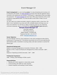 Event Manager Resume Cover Letter Event Manager Resume Examples Uk Template Special 15