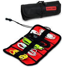 Amazon.com: Smart Cargo Electronic Travel Cord Organizer -Black Wrap Bag,  Portable