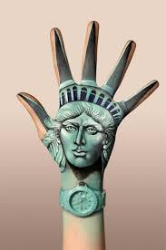 statue liberty hand painting by guido danielle