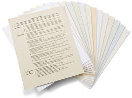 cotton resume paper