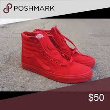 vans shoes high tops red. all red high top vans shoes tops