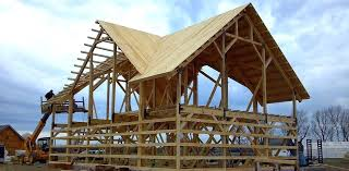 barn home construction post beam and house plans free