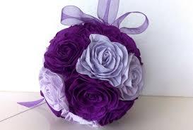 Crepe Paper Flower Balls Purple Lavender Lilac Peacock Purple Flowers Kissing Ball Crepe Paper Flowers Ball Wedding Paper Flowers Balls Baby Shower Decor Flower Girl