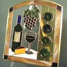 how to make a wine bottle stained glass panel
