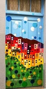 Impressive Door Painting Designs Dishfunctional Beautiful Unique Painted Doors Indoors And Intended Design