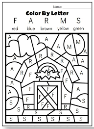 Customize the letters by coloring with markers or pencils. Farm Animal Printables For Preschool Farm Theme Preschool Kindergarten Coloring Pages Preschool Learning