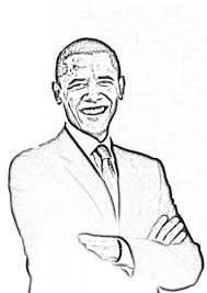Small Picture Coloring page President Obama Famous people CoLoRing Pages