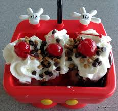 mickey kitchen sink sundae from above ice cream close up